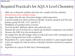 AQA A Level Chemistry Required Practical 2 - Enthalpy change
