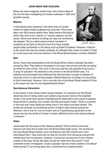 GCSE History Medicine in Britain L15 Fighting Cholera in London: John Snow