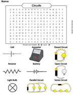 Circuits Word Search