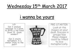 John Cooper Clarke - i wanna be yours POETRY ANALYSIS lesson