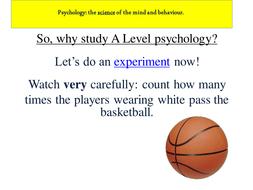 Psychology A Level Options Evening Presentation
