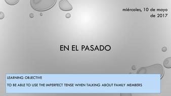 Mi familia - imperfect - Spanish