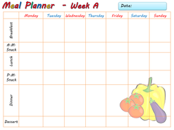 toddler weekly meal planner template and 3 example meal plans age 2
