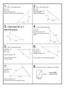 Pythagoras Revision Race with scoreboard