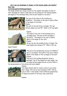 Missing lengths and angles - Anglo Saxon houses themed word problems worksheets KS2 Year 5
