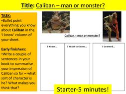 Character Focus on Caliban