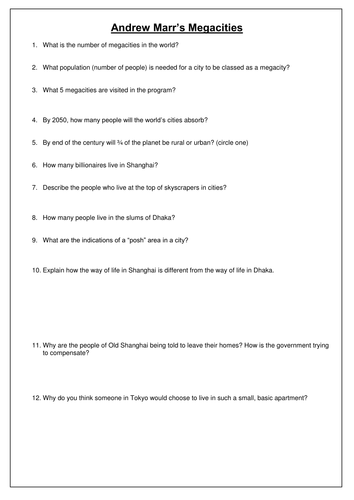 New AQA GCSE- Urban Issues and Challenges Lesson #2