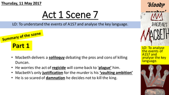 Macbeth  Act  Scene  Aqa By Lizziedc  Teaching Resources  Tes Actscenepptx