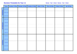 Astounding Revision Timetable Blank Complete Home Design Collection Epsylindsey Bellcom