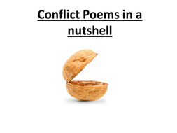 Conflict Poems AQA Cue Cards-All you need to know