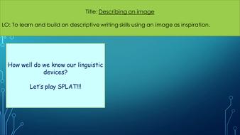 Describing an image