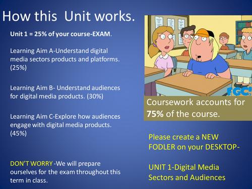 Unit 1 Exam Revision Media Studies