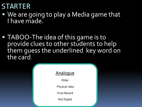 Media Revision Board Game