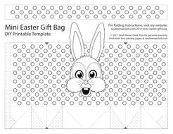 Diy easter gift bag templates set of 8 printable pdf templates free easter gift bagpdf maxwellsz
