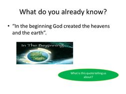 Different stories of Creation in Genesis Edexcel spec A