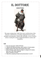 Commedia dell' arte Character Cards