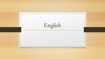 starters for english