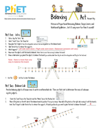 phet balancing act answer keypdf - Balancing Act Worksheet