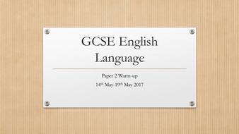 AQA English Language 9-1 Paper 2