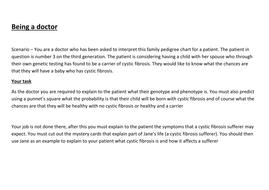Cystic Fibrosis Investigation Activity
