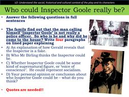 An Inspector Calls - mini essay on Inspector Goole - KS4