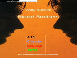 BLOOD BROTHERS ACT 1