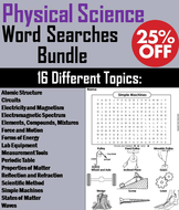 Physical Science Word Search Bundle