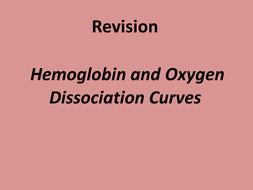 A level Biology Oxygen Dissociation curve revision powepoint and exam technique