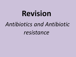 A level revision powerpoint and exam technique antibiotics