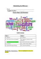Intervention booklet on structure - language paper 1