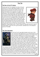 Tiny Tim - Revision Sheet - A Christmas Carol - WJEC English Literature