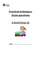 A2 AQA Chemistry Required Practical qs
