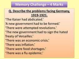 OCR Modern World History Memory Challenge Revision PPT