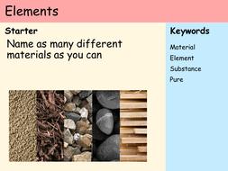KS3 Atoms - Lesson 1 - Elements.pptx