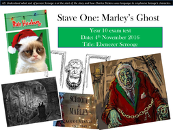 Charles Dickens - A Christmas Carol - introduction - Stave One   Teaching Resources