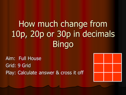 How-much-change-Bingo-decimals.ppt