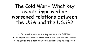 The Cold War - Key Events revision