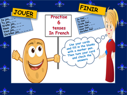 Revise verb endings for er, ir and re verbs ( present, imperfect, perfect, future and conditional )