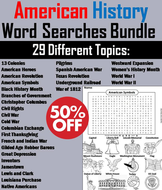American History Word Search Bundle