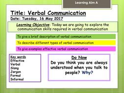verbal and nonverbal communication in health and social care