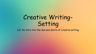 Creative-Writing--Setting.pptx