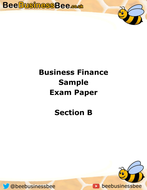 BTEC National Business; Personal and Business Finance - Section B Mock Exam Paper