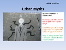 Urban Myths - Gothic Writing