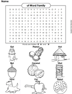 ut Word Family Word Search