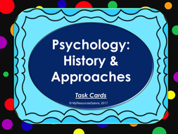 Introductory Psychology: Task cards