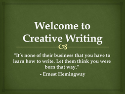creative writing how to get started