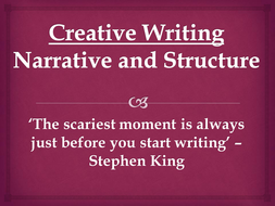 Creative Writing - Narrative and Structure/Plot