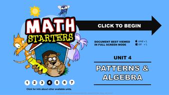 Math Starters - Patterns and Algebra