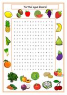 Food - Fruit & Vegetables in Irish Tórthaí & Glasraí