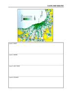 Geography- Level 4 Map analysis worksheet